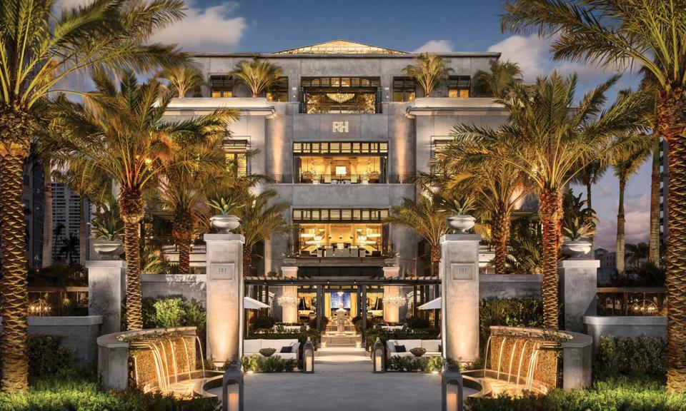 The exterior of Restoration Hardware in West Palm Beach.