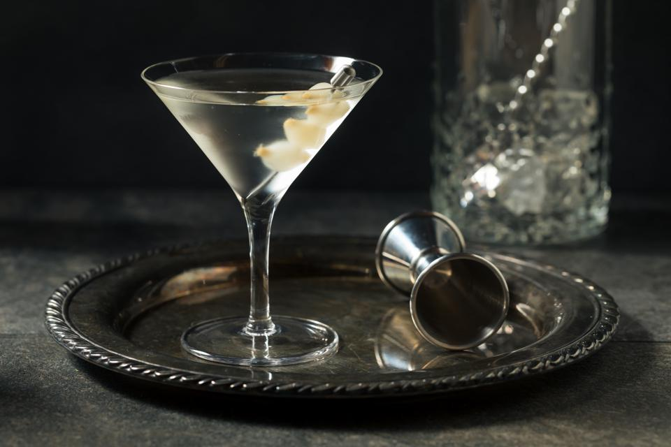 Boozy Dry Gin Gibson Martini