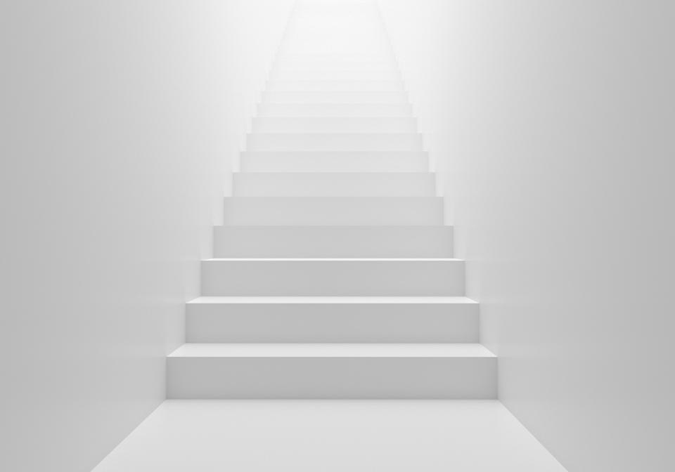 3D render stairs background