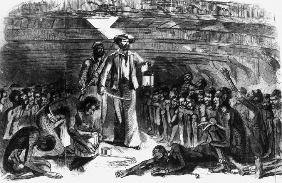 Scene in the Hold of the ″Blood-Stained Gloria.″ (Middle Passage)