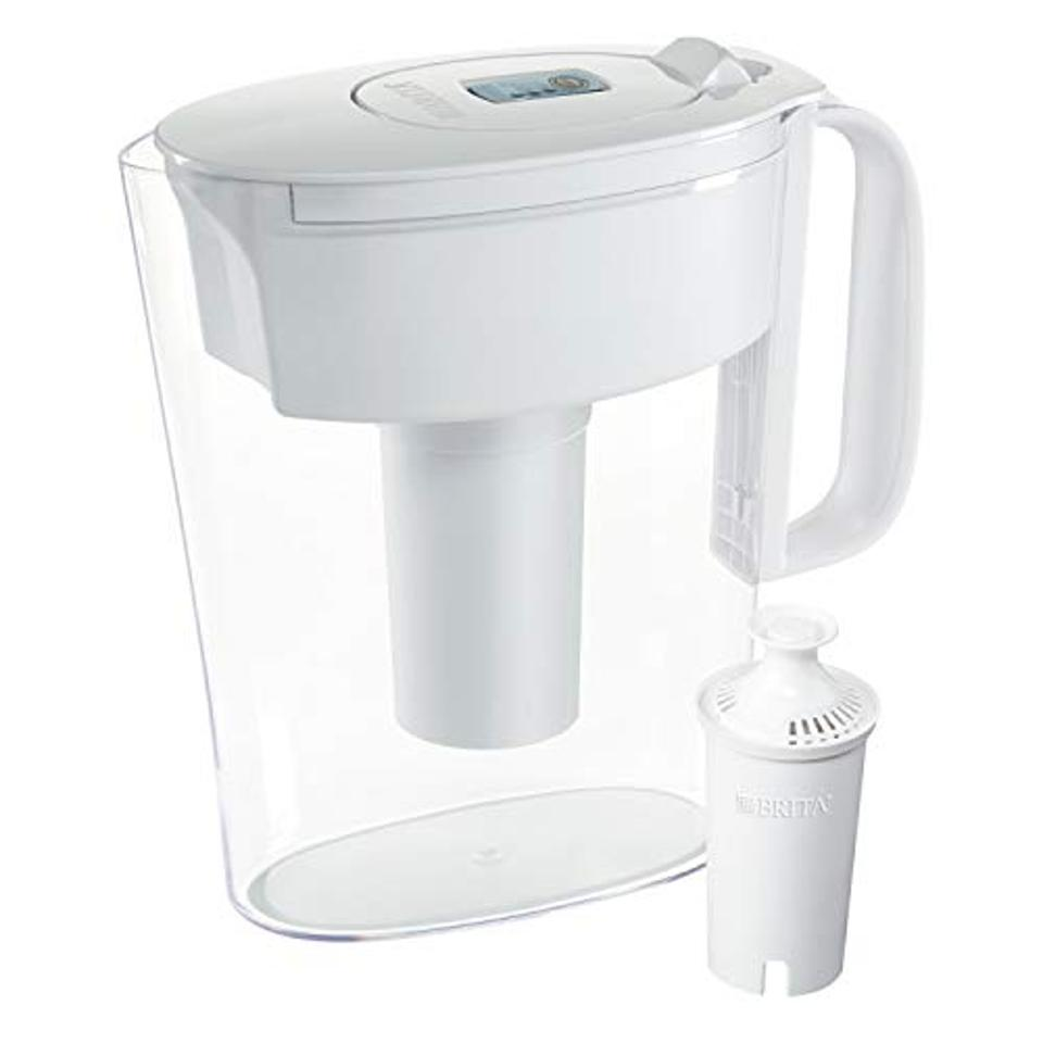 Brita Standard Metro Water Filter Pitcher, White