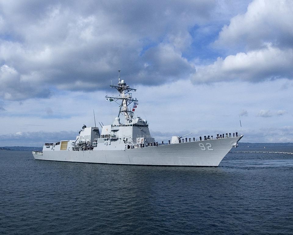 USS Momsen at sea.