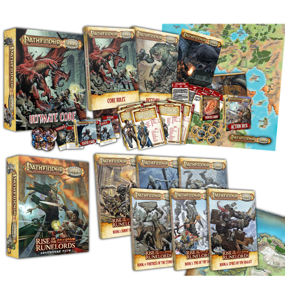 The two boxed sets available through the Kickstarter