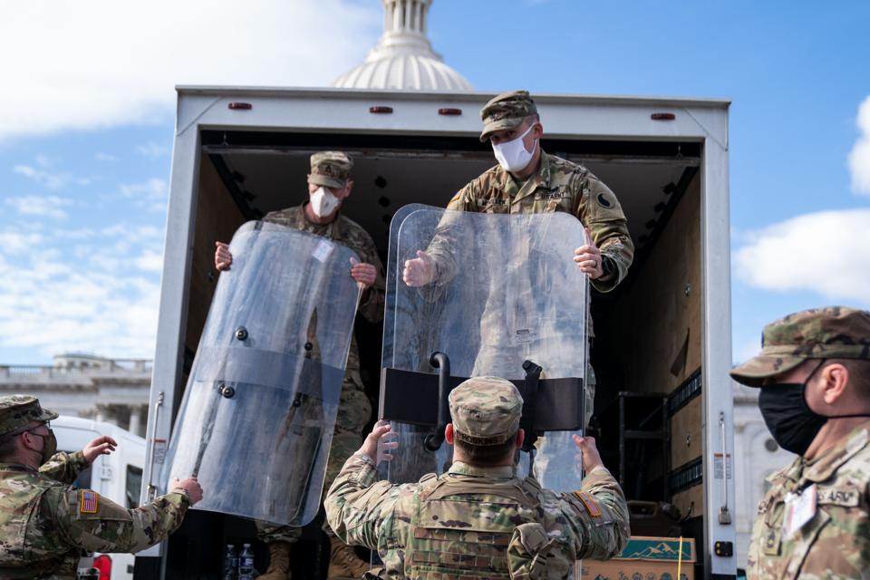 National Guard In Washington DC Ahead of Inauguration of Joe Biden