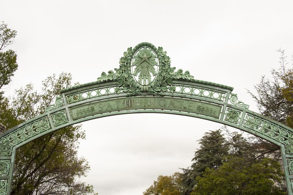 Sather Gate on University of California in Berkeley Campus