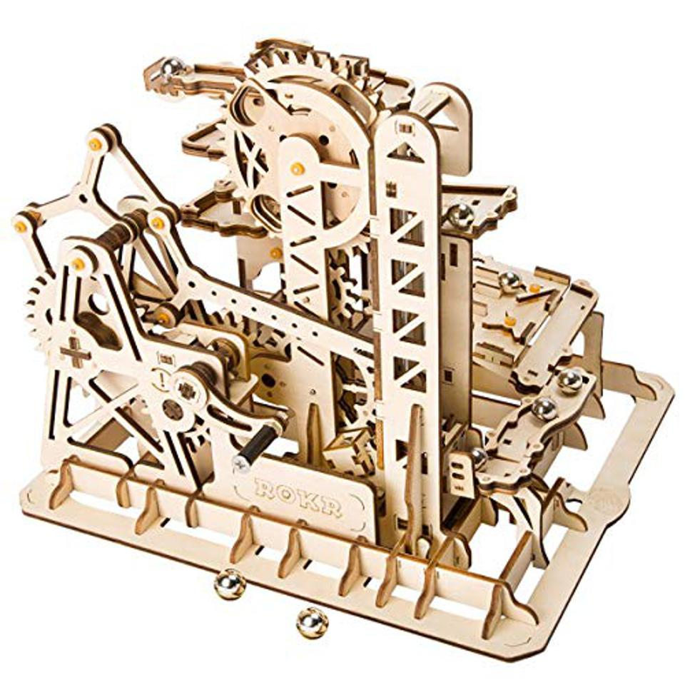 ROKR Marble Run 3D Wooden Roller Coaster Puzzle
