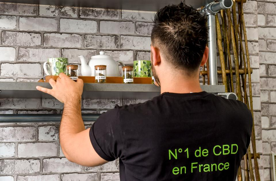 A shop specialising in cannabis-based products in Lille, France