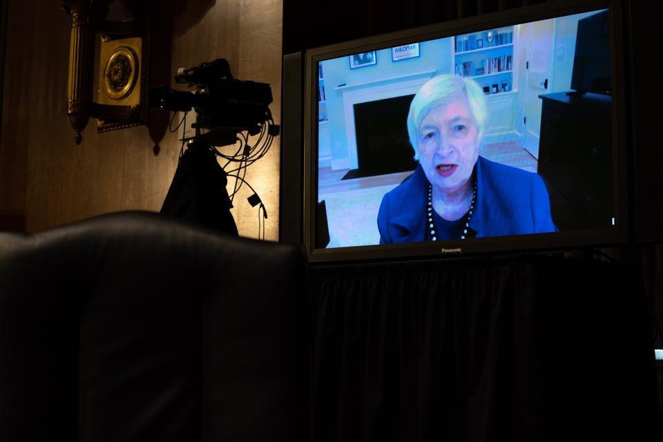 Treasury Secretary Nominee Janet Yellen Testifies Before Senate Finance Committee