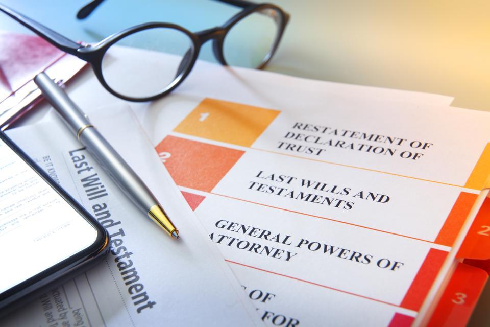 Estate planning documents.