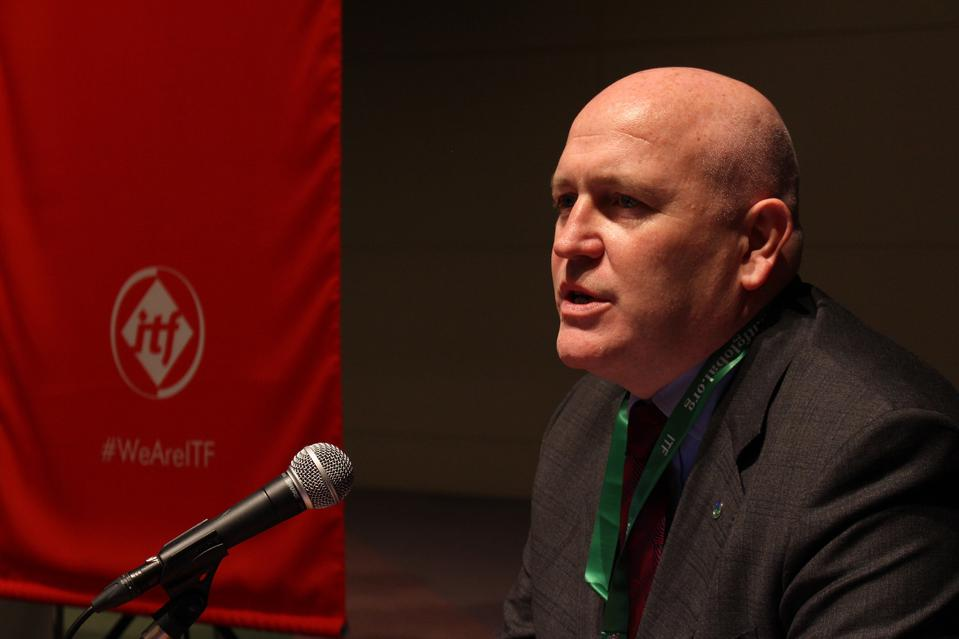 Stephen Cotton, general secretary of the International Transport Workers' Federation (ITF)