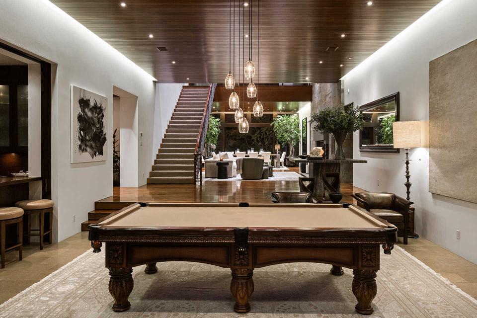 Billiards room in luxury home