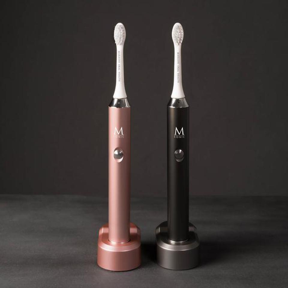 M Sonic Luxury Toothbrushes in Rose Gold and Graphite