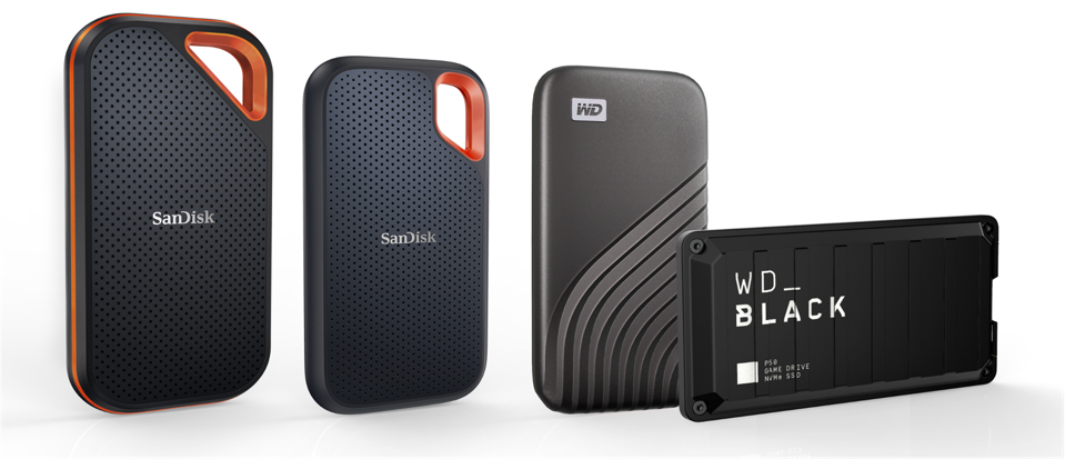 WDC portable SSDs