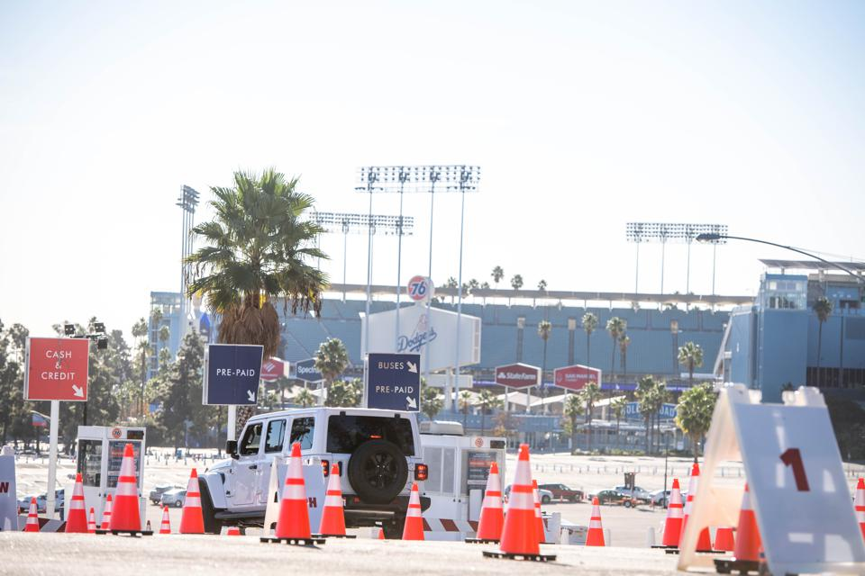 Mass Vaccination Begins At Dodger Stadium