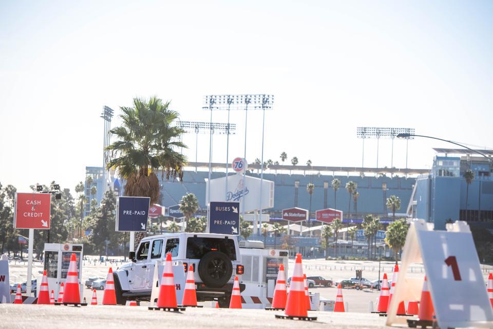 Mass Vaccination Begins At Dodger Stadium