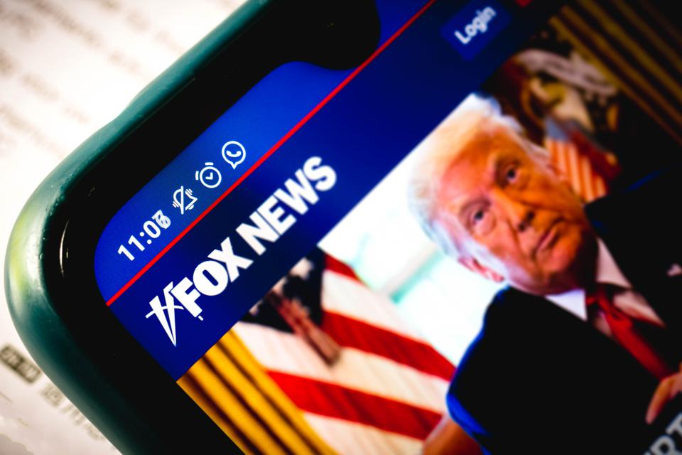 Fox News logo with President Trump