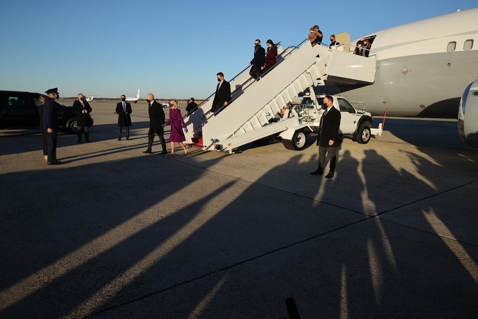 President-Elect Joe Biden Travels To Washington, D.C. Day Ahead Of His Inauguration