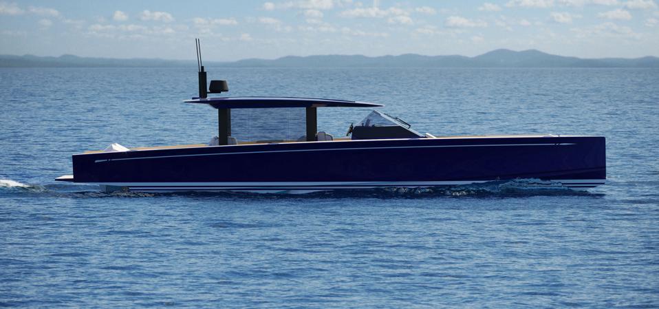 Nautor's Swan new Shadow poweboat is 60 MPH fast