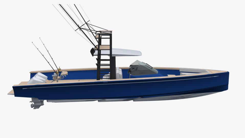 Nautor's Swan new Shadow poweboat is designed to have many different functions including fishing.