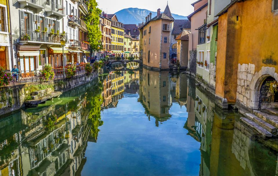 River in Annecy city