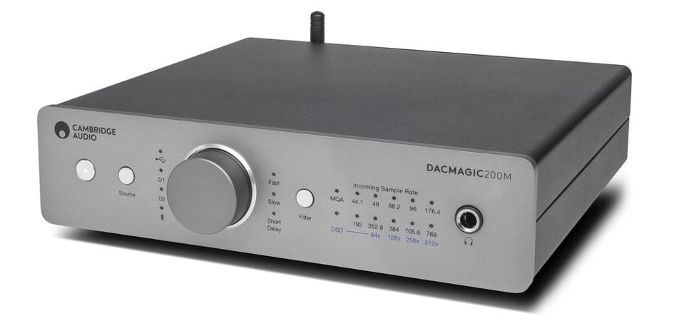 Three-quarter view of DACMagic 200M