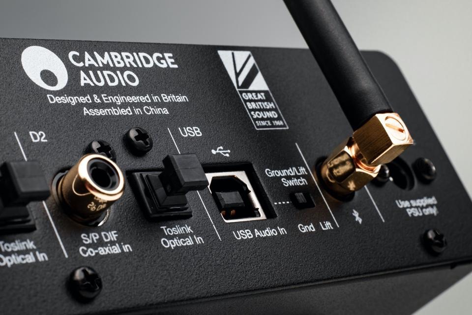 Close-up rear view of Cambridge Audio DACMagic 200M