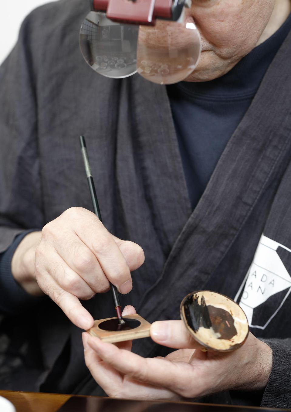 Traditional techniques were used to create the watch dials, handcrafted in Japan.