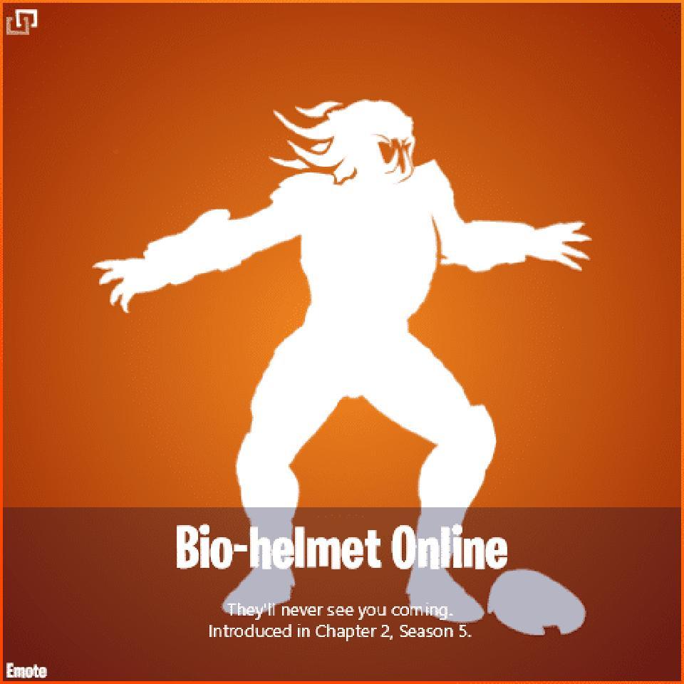 Bio-helmet Online emote