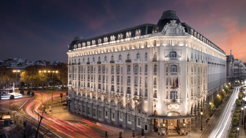Facade of the The Westin Palace, Madrid hotel