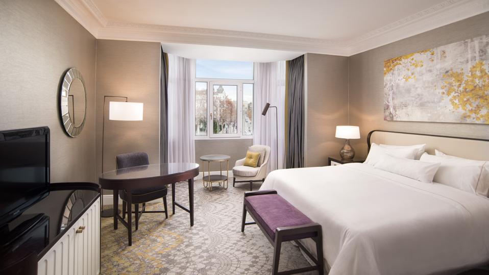 Premium room at The Westin Palace, Madrid, hotel.