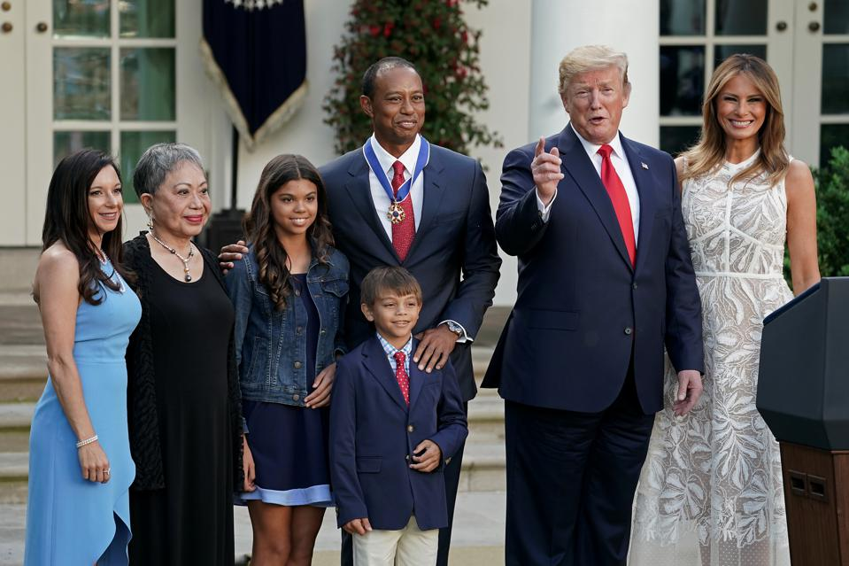 President Trump Awards Medal Of Freedom To Golfer Tiger Woods