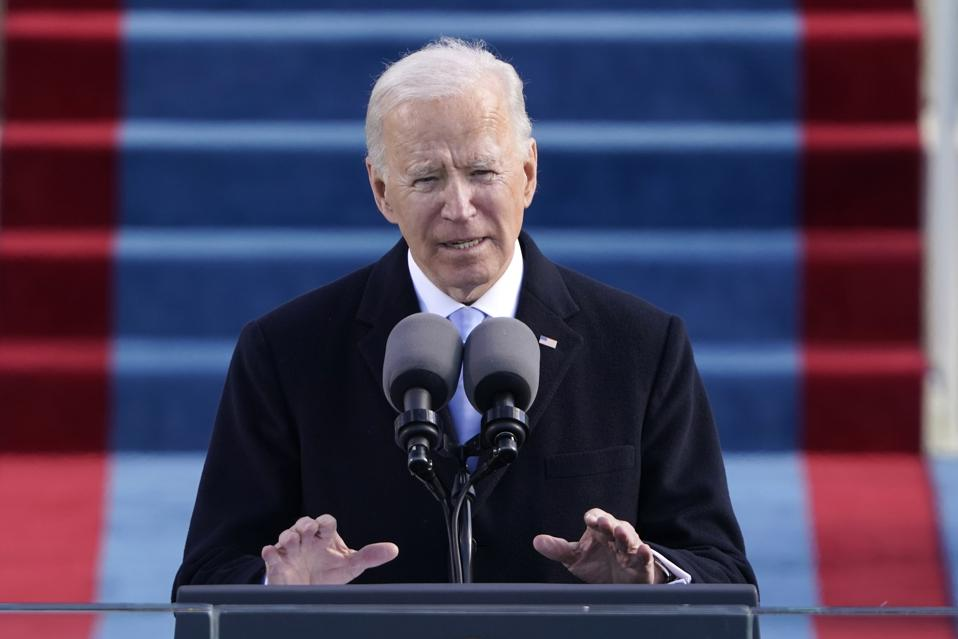 Joe Biden Sworn In As 46th President Of The United States At U.S. Capitol, Jan 20, 2021.
