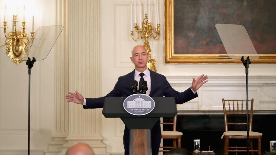 Jeff Bezos at the White House 2016
