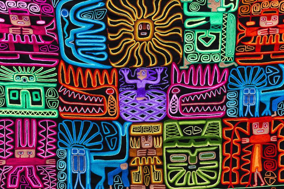 Souvenir Inca embroidery from Peru