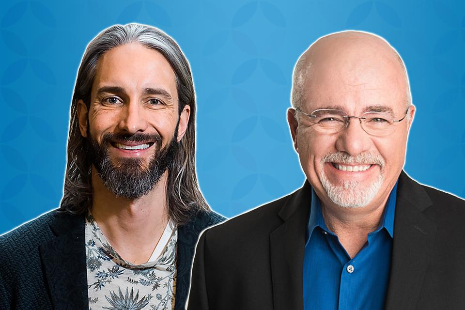 On the left a business man with should length black and grey hair in his mid forties. On the right, a middle aged business man wearing thin rimmed glasses.