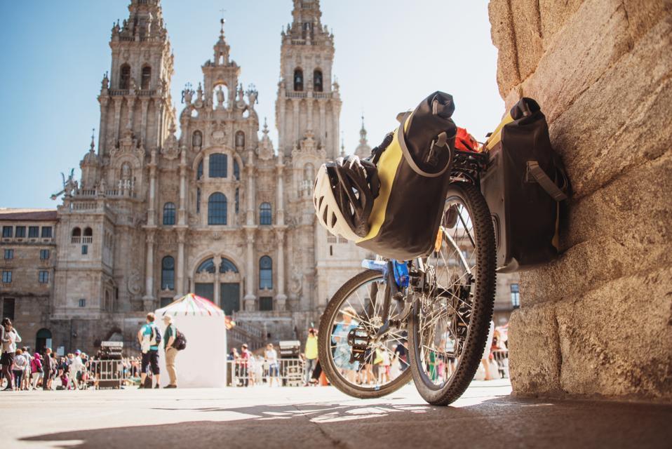 Bicycle by Santiago de Compostela Cathedral