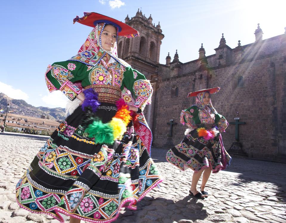 Traditional Peruvian Dancers, Cusco. Peru