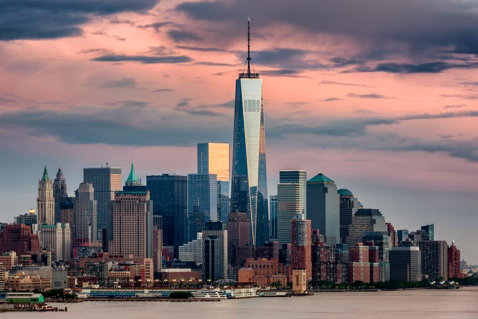 Lower Manhattan NYC from Weehawken NJ