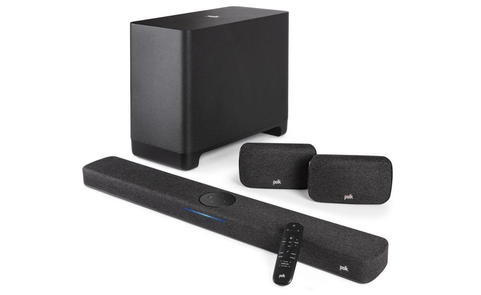 Polk React sound bar, SR2 speakers and React subwoofer