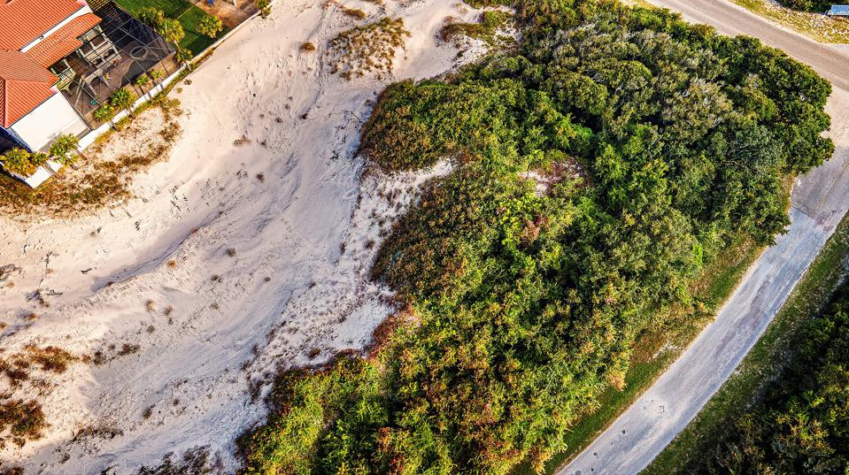 Overhead view of Little NaNa Dune at American Beach acquired by the North Florida Land Trust on January 13, 2021.