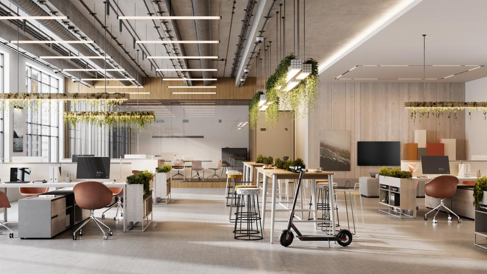Interior of an open plan office space