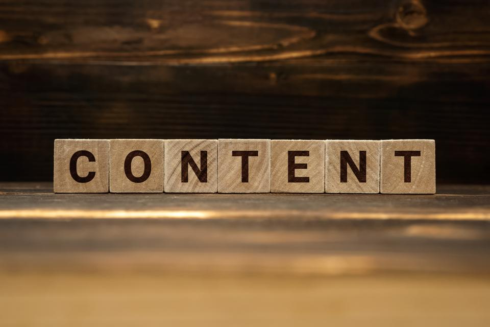 Content Word on Wooden Blocks