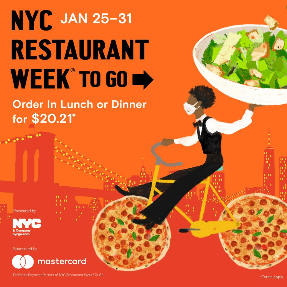 The poster for this year's NYC Restaurant Week To Go iteration.