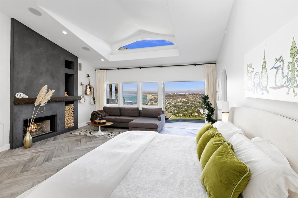 The bedroom in a luxury home.