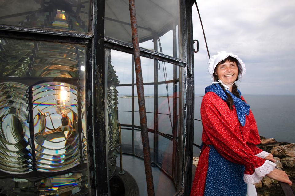 Sally Snowman works as the light keeper at Boston Light, which stands nearly 10 miles southeast of Boston and was originally built in 1716.