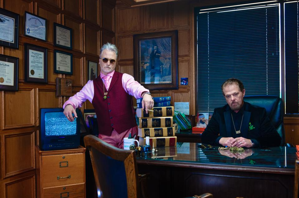 Marc and Craig Wasserman, the Pot Brothers at Law, in their Southern California office.