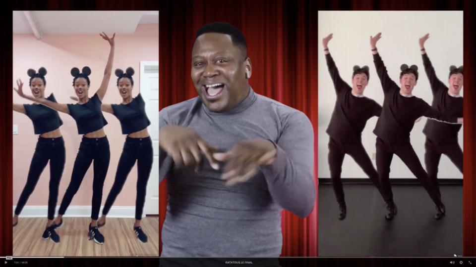 Tituss Burgess, Joy Woods, and JJ Niemann in the TikTok musical 'Ratatouille'
