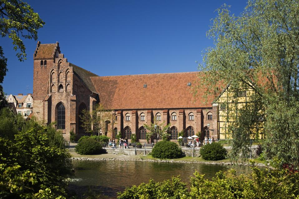 Greyfriars Abbey, a medieval former friary in Ystad, Sweden.