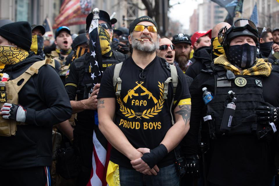 Proud Boys march in support of President Trump