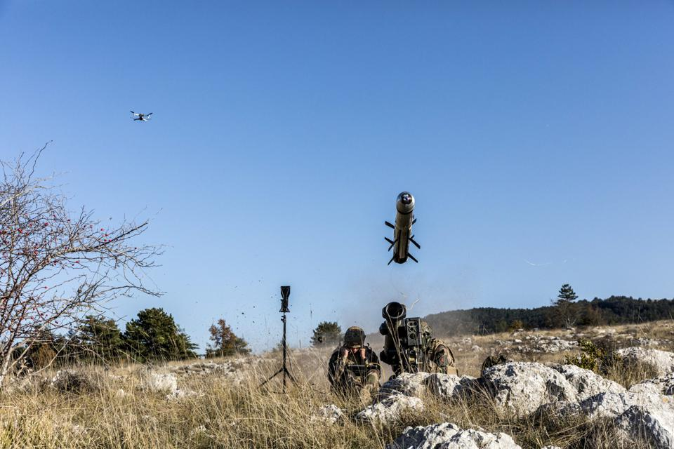 Missile firing with drone overhead